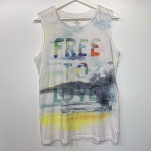 Aerie Free To Love Graphic tank top XL